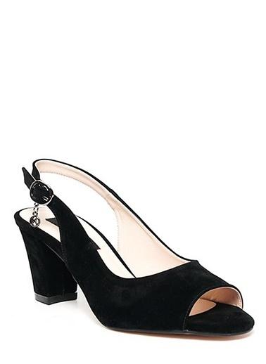 Kuum Kalın Topuklu Ayakkabı Siyah
